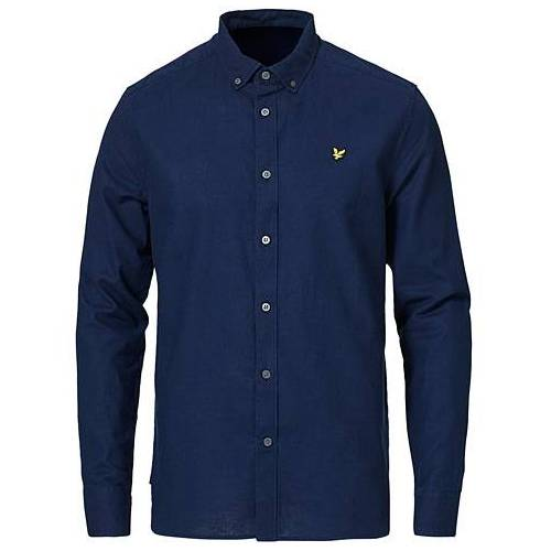 Scott Lyle & Scott Linen/Cotton Shirt Navy