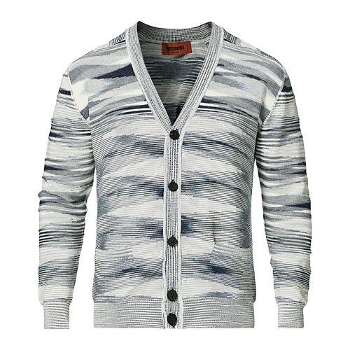 Missoni Space-Dye Knitted Cardigan Light Grey