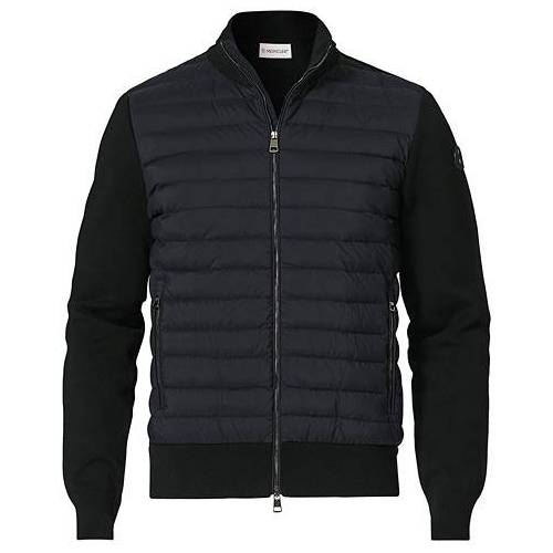 Moncler Cardigan Down Hybrid Black