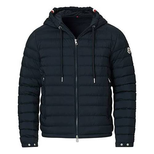 Moncler Eus Down Hooded Jacket Navy