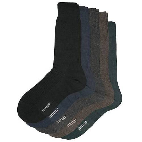 Pantherella 5-Pack Naish Merino/Nylon Sock Navy/Black/Charcoal/Chocolate/Racing Gr