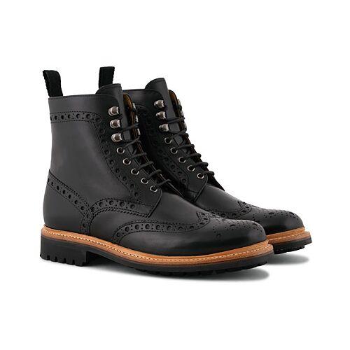 Grenson Fred Commando Boot Black Calf