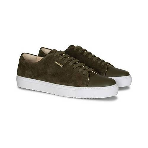 Axel Arigato Cap Toe Sneaker Military Green Suede