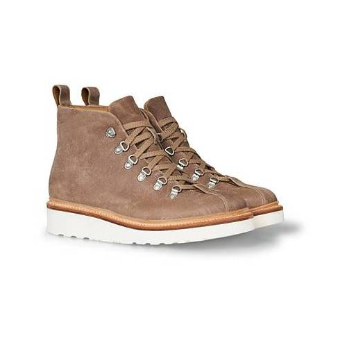 Grenson Bobby Boot Taupe Rugged Suede