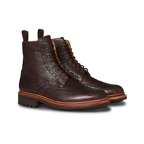 Grenson Fred Boot Dark Brown Grain