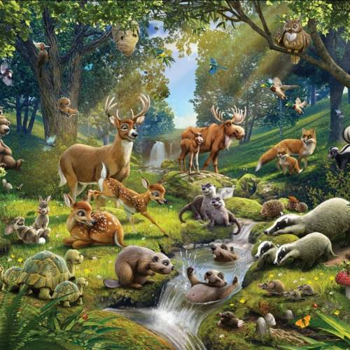 Walltastic Fototapete Animals Forest 43060