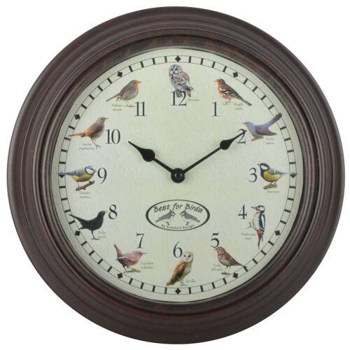Esschert Design Uhr mit Vogelgezwitscher