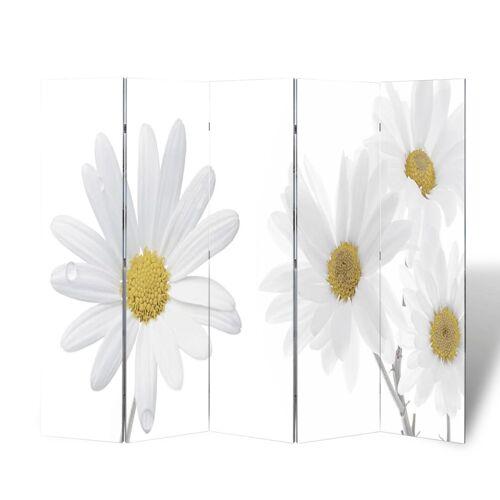 vidaXL Raumteiler klappbar 200 x 170 cm Blume