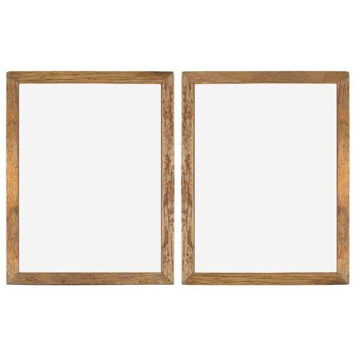 vidaXL Bilderrahmen 2 Stk. 90×70 cm Recyceltes Massivholz und Glas