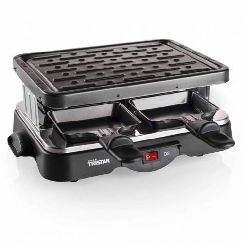 Tristar 4-Personen-Raclette-Grill 500 W 22 x 17,5 cm Schwarz