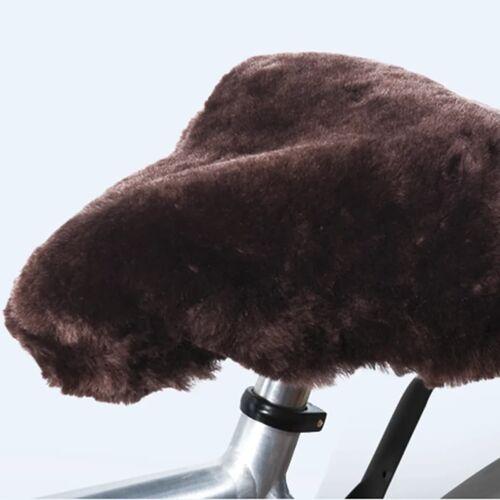Willex Fahrrad-Sattelbezug Schafsfell Braun