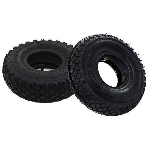 vidaXL 2 Reifen 2 Schläuche 3,00 - 4 260 x 85 für Sackkarren Gummi