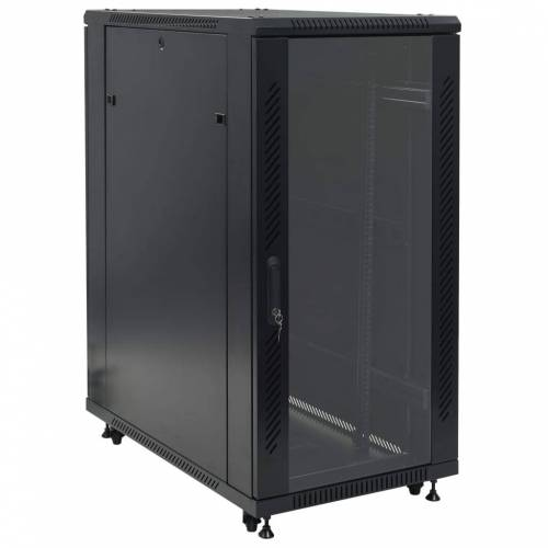 "vidaXL 24U Netzwerkschrank 19"" IP20 600x1000x1230 mm"