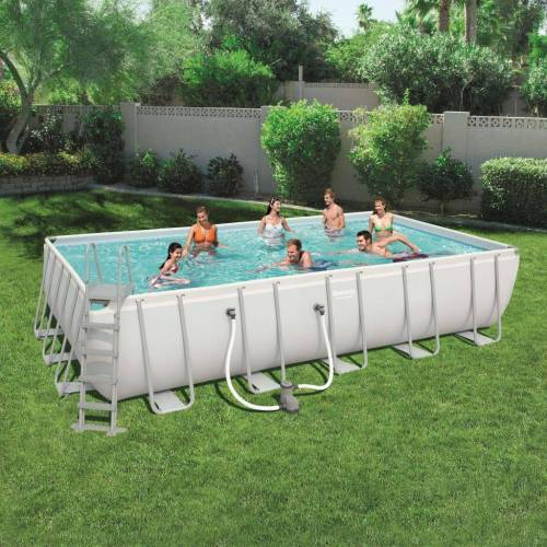 Bestway Power Steel Swimmingpool-Set Rechteckig 671×366×132 cm 56470