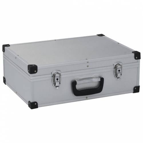 vidaXL Werkzeugkoffer 46 x 33 x 16 cm Silber Aluminium