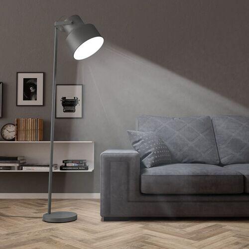 vidaXL Stehlampe Metall Grau E27
