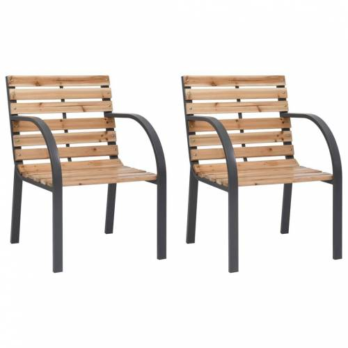 vidaXL Gartenstühle 2 Stk. Holz