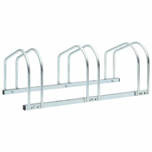 vidaXL Boden-Fahrradständer für 3 Fahrräder 71 x 33 x 27 cm Stahl