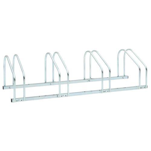 vidaXL Boden-Fahrradständer für 4 Fahrräder 104 x 33 x 27 cm Stahl