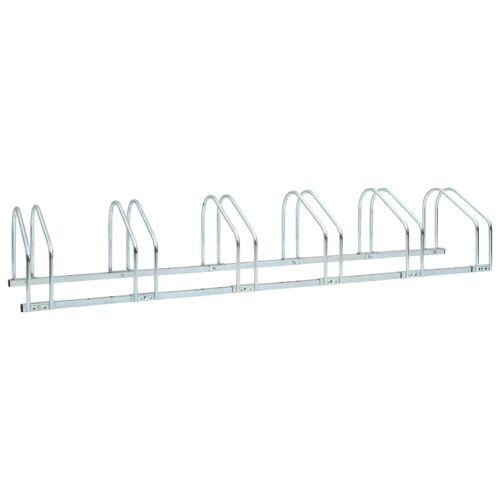 vidaXL Boden-Fahrradständer für 6 Fahrräder 168 x 33 x 27 cm Stahl