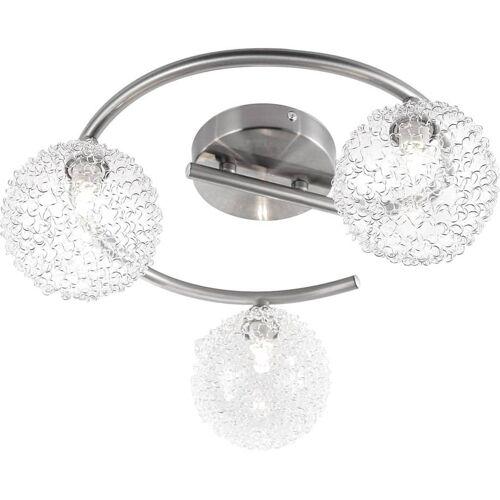 GLOBO Strahler mit 3 Lampen ENIGMA Nickel Matt 56620-3