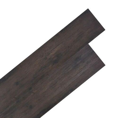 vidaXL PVC Laminat Dielen 5,26 m² 2 mm Eiche Dunkelgrau