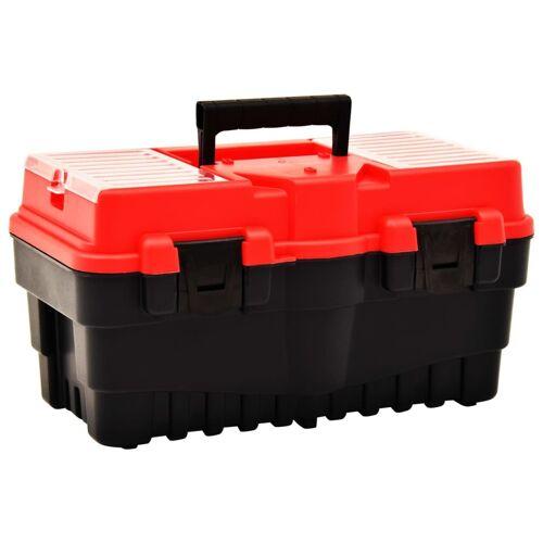 vidaXL Werkzeugkoffer Kunststoff 462 x 256 x 242 mm Rot