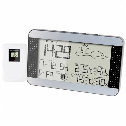 Alecto Drahtlose Wetterstation WS-1700 Silber