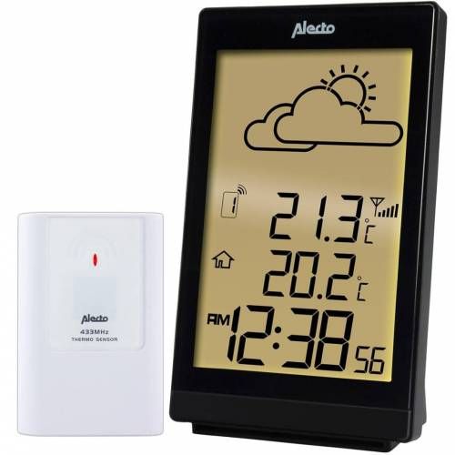 Alecto Drahtlose Wetterstation WS-2200 Schwarz