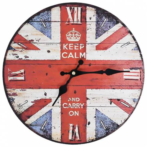 vidaXL Vintage Wanduhr UK 30 cm