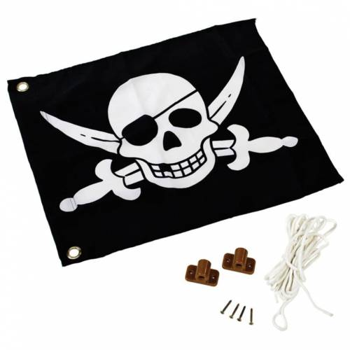 AXI Piratenflagge Schwarz und Weiß 55x45 cm A507.012.00