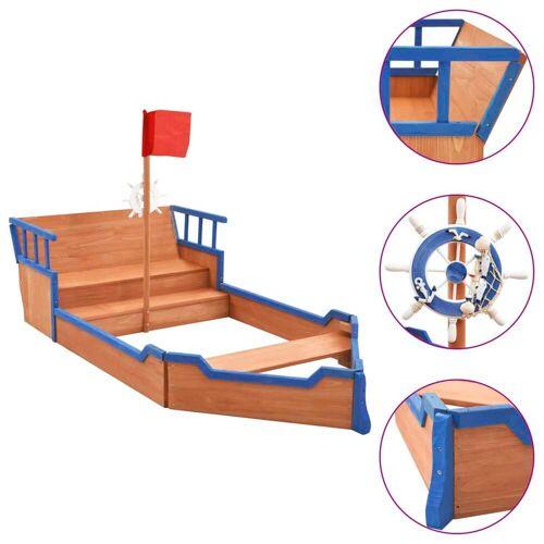 vidaXL Sandkasten Piratenschiff Tannenholz 190x94,5x136 cm
