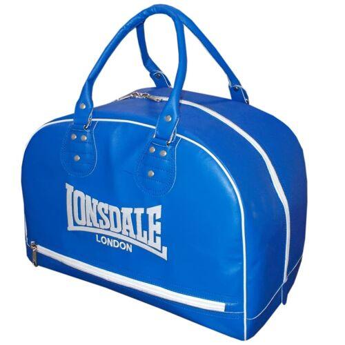 LONSDALE Reisetasche Lederstil Blau