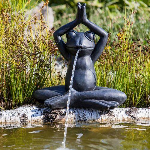 HEISSNER Teichfigur Yoga Frogs Anthrazit 38 x 21 x 40 cm
