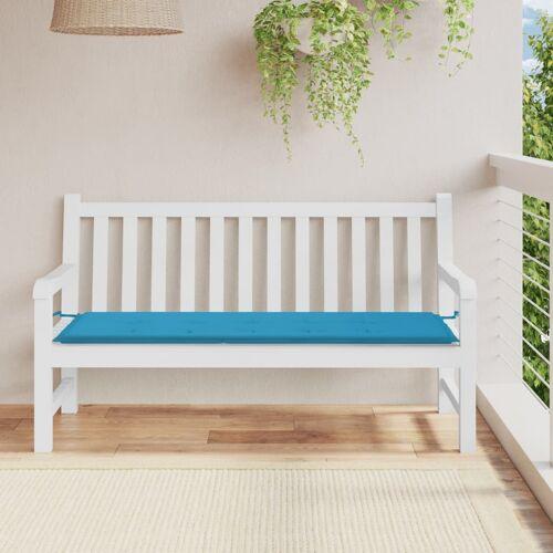 vidaXL Gartenbank-Auflage Blau 150×50×3 cm