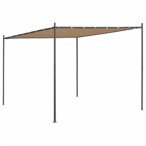 vidaXL Gartenpavillon mit Flachdach 3 x 3 x 2,4 m Beige