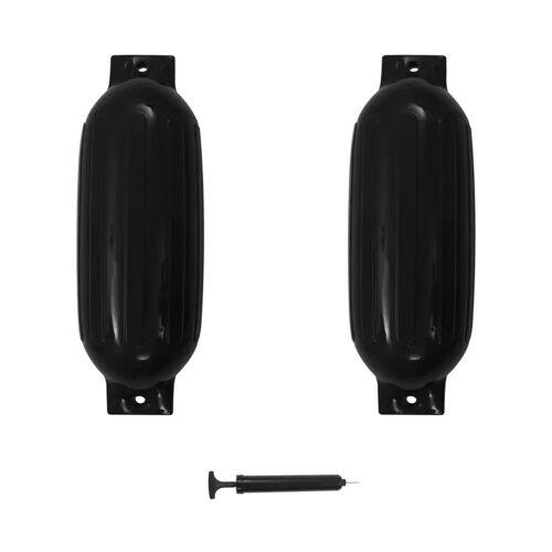 vidaXL Bootsfender 2 Stk. Schwarz 69 x 21,5 cm PVC