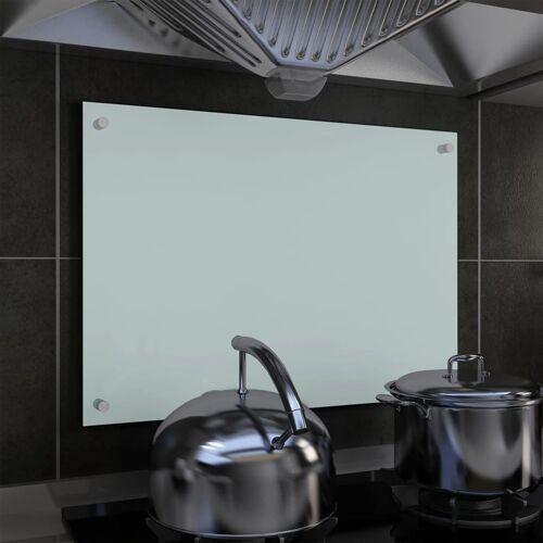 vidaXL Küchenrückwand Weiß 70 x 50 cm Hartglas