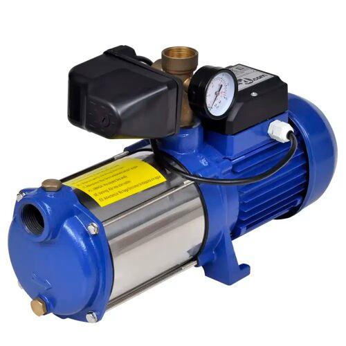 vidaXL Strahlpumpe mit Messgerät 1300 W 5100 l/h blau
