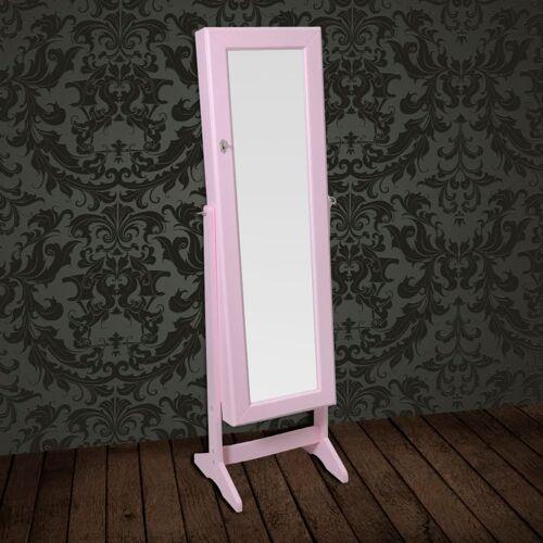 vidaXL Standspiegel Schmuckkasten Spiegelschrank Pink