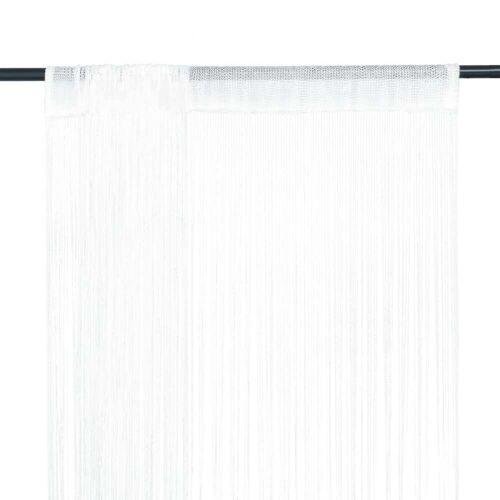 vidaXL Fadenvorhang 2 Stk.100 x 250 cm Weiß