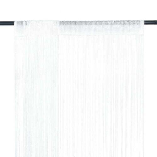 vidaXL Fadenvorhänge 2 Stk. 140 x 250 cm Weiß
