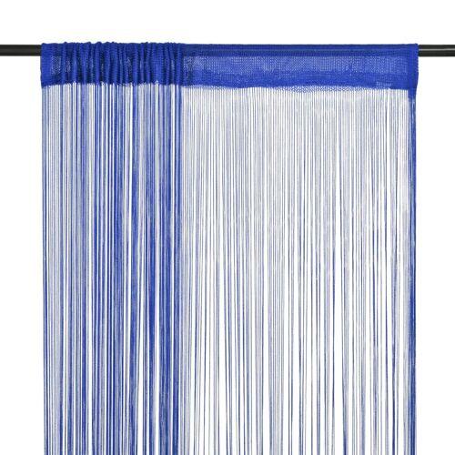 vidaXL Fadenvorhänge 2 Stk. 100 x 250 cm Blau