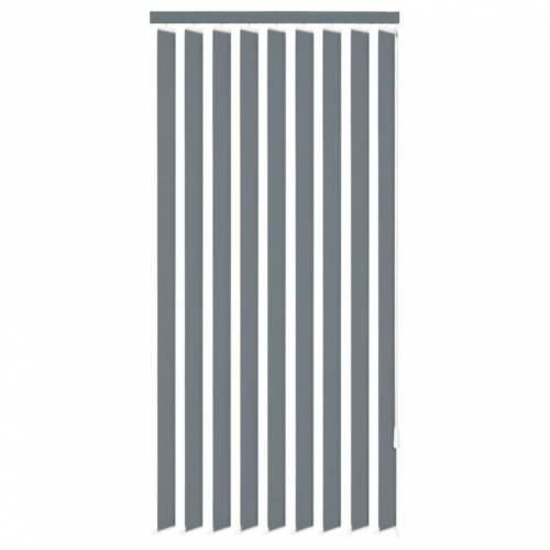 vidaXL Vertikale Jalousien Grau Stoff 180x180 cm