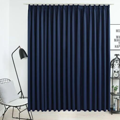 vidaXL Verdunkelungsvorhang mit Haken Blau 290 x 245 cm