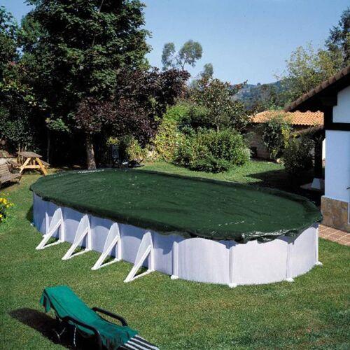 Summer Fun Winter-Poolabdeckung Oval 800 cm PVC Grün