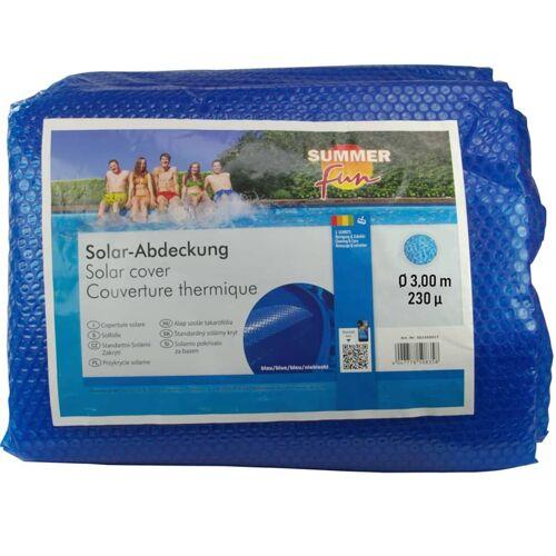 Summer Fun Sommer Poolabdeckung Solar Rund 300 cm PE Blau