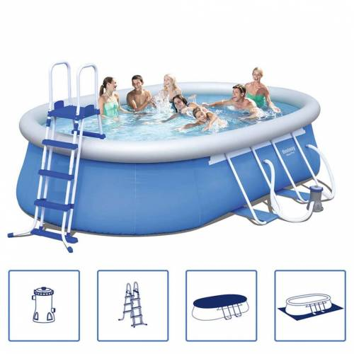 Bestway Steel Pro Swimming Pool-Set Stahlrahmen 549x366x122 cm 56461