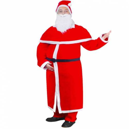vidaXL Weihnachtskostüm Weihnachtsmann Mantel Kostüm-Set