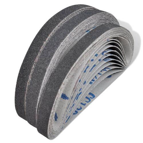 vidaXL Schleifbänder für Druckluft Bandschleifer 30 Stk. 10×330 mm
